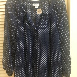 Brand new with tags polka dot blouse
